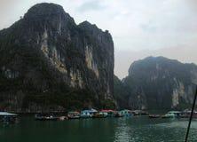 Vinter i den Halong fjärden, Vietnam, Asien Royaltyfri Fotografi