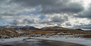 Vinter i den skotska Skotska högländerna Fotografering för Bildbyråer