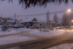 Vinter i den Vancouver staden Arkivbilder