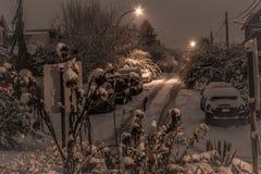 Vinter i den Vancouver staden Arkivfoto