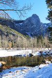 Vinter i den Yosemite nationalparken Royaltyfria Bilder