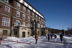 Vinter i denSilesian regionen för berg Royaltyfria Foton