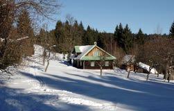 Vinter i denSilesian regionen för berg Royaltyfri Foto