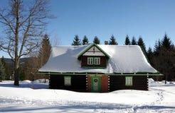 Vinter i denSilesian regionen för berg Arkivbilder