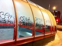 Vinter i en Belorussian stad Baranovichirr Arkivbild