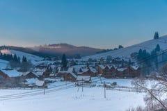Vinter i fjällängbergen, Solden, Österrike arkivfoto