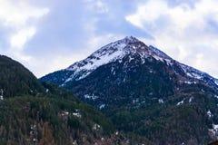 Vinter i fjällängbergen, Solden, Österrike fotografering för bildbyråer