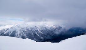Vinter i fjällänglandskapet Österrike Arkivfoton