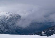 Vinter i fjällänglandskapet Royaltyfria Bilder