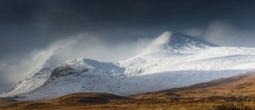 Vinter i Glencoe Arkivfoton