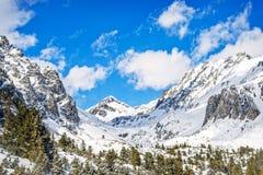 Vinter i höga Tatras berg Arkivbilder