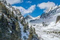 Vinter i höga Tatras berg Arkivfoton