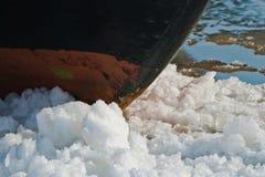 Vinter i hamnen royaltyfri foto