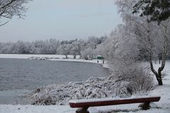 Vinter i havet Arkivfoto