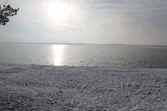 Vinter i havet Royaltyfri Foto