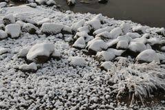 Vinter i havet Arkivbild