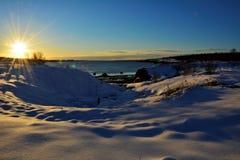 Vinter i iceland royaltyfri foto