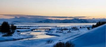 Vinter i iceland arkivfoton