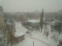 Vinter i Kharkov Fotografering för Bildbyråer