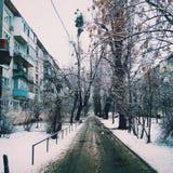 Vinter i Kiev Fotografering för Bildbyråer