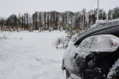 Vinter i landet Arkivbild