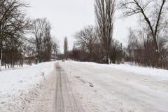 Vinter i landet Arkivfoto