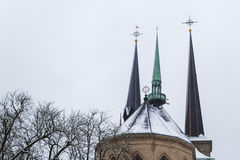 Vinter i Luxembourg Fotografering för Bildbyråer