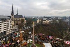 Vinter i Luxembourg Royaltyfri Fotografi