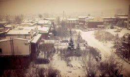 Vinter i min älskvärda sity radugniy Irkutsk Fotografering för Bildbyråer