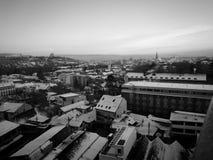 Vinter i min stad Arkivfoto