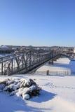 Vinter i Ottawa, Kanada Royaltyfri Foto