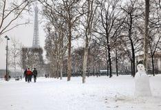 Vinter i Paris Arkivbild