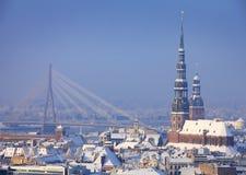Vinter i Riga arkivfoto