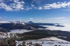 Vinter i Rocky Mountain National Park, Colorado fotografering för bildbyråer