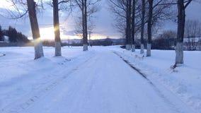 Vinter i Rumänien 4 Arkivfoton
