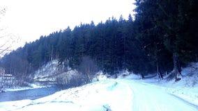 Vinter i Rumänien 2 Arkivbild