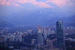 Vinter i Santiago Fotografering för Bildbyråer