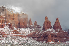 Vinter i Sedona Arizona Royaltyfri Bild