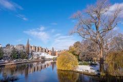 Vinter i Shrewsbury Fotografering för Bildbyråer