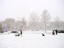 Vinter i stad Royaltyfria Foton