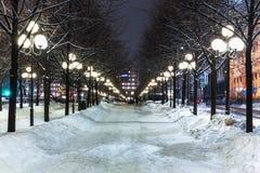 Vinter i Stockholm, Sverige Royaltyfri Foto