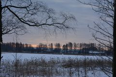 Vinter i Sverige Royaltyfri Fotografi