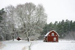 Vinter i Sverige Fotografering för Bildbyråer