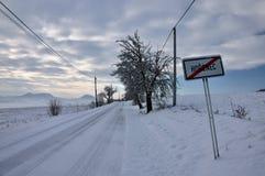 Vinter i tjeckiska Mitt-berg Arkivfoto