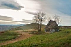 Vinter i Transylvania Rumänien Arkivfoton