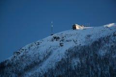 Vinter i Tromsoe, Norge Arkivfoton