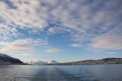 Vinter i Tromsoe, Norge Arkivfoto