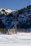 Vinter i Utah Arkivfoton