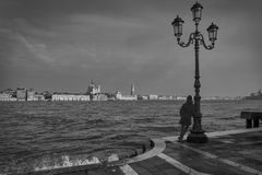 Vinter i Venedig, Italien Royaltyfri Fotografi