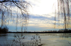 Vinter lake arkivbilder